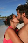 man-beard-kissing-woman